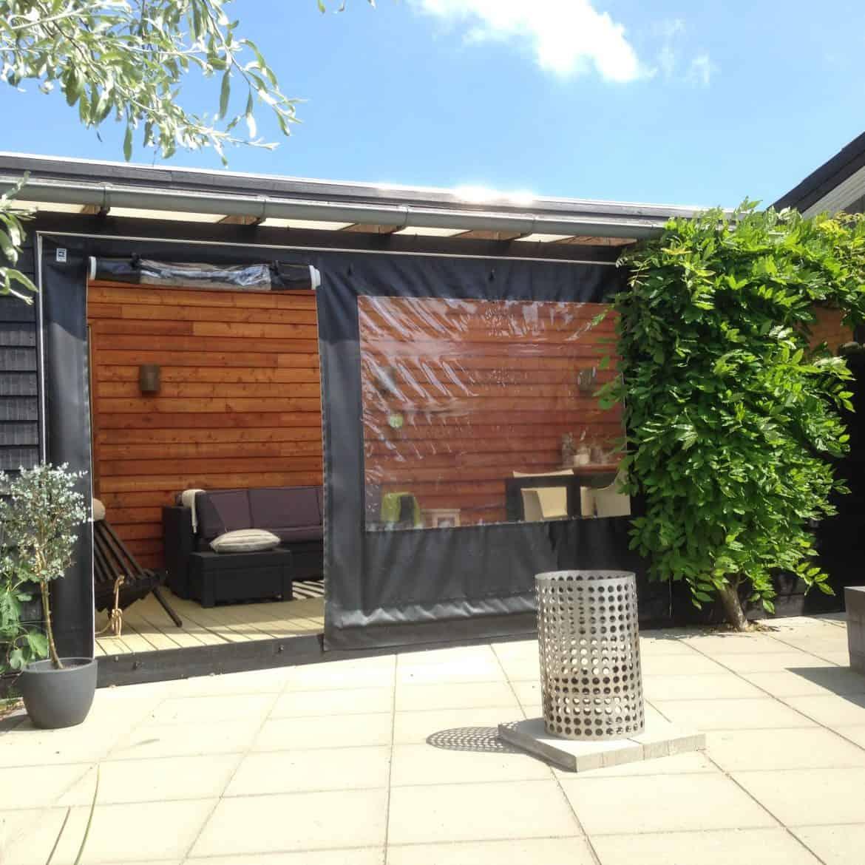 Terrasseafdækning -sorte sidestykker