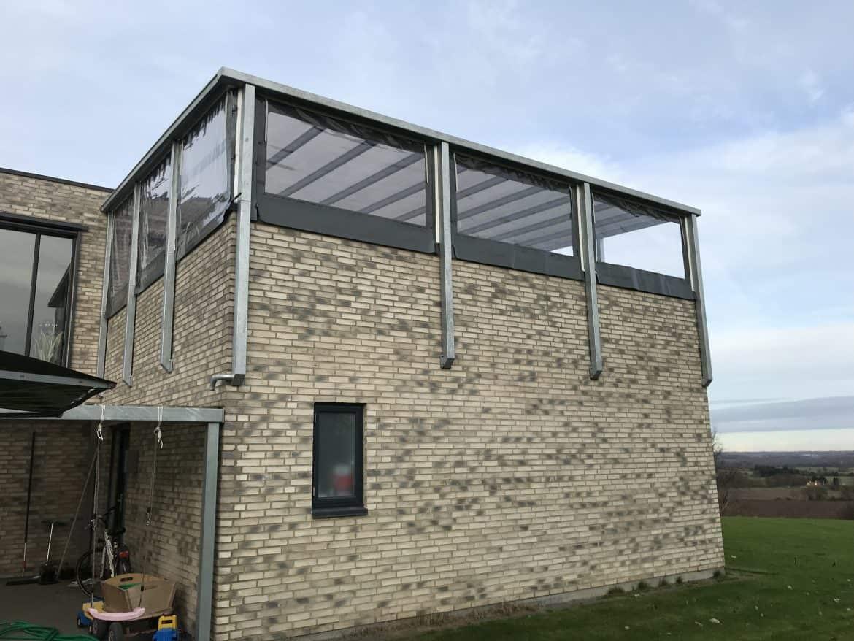 Terrasseafdækninger med korte sidestykker