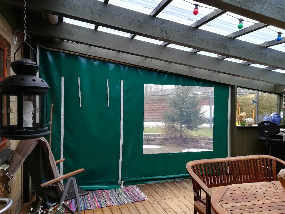 Terrasseafdækning i grøn