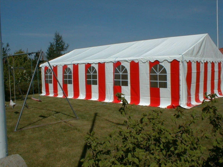 6 x 10m rød hvid