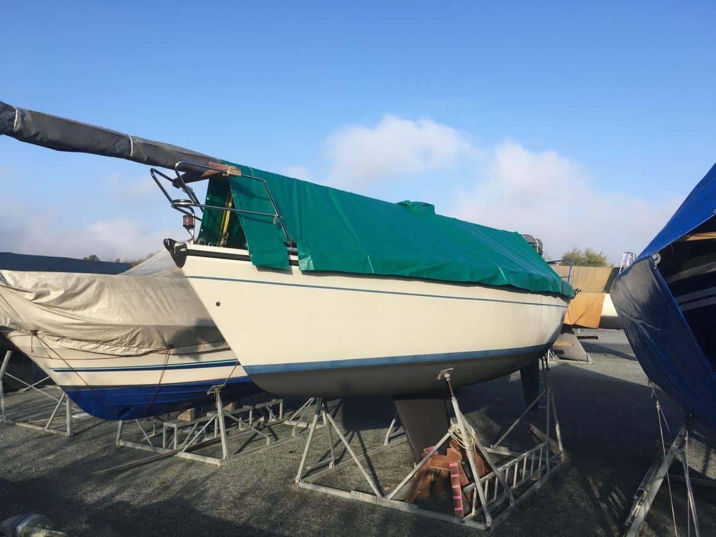 Grøn bådpresenning