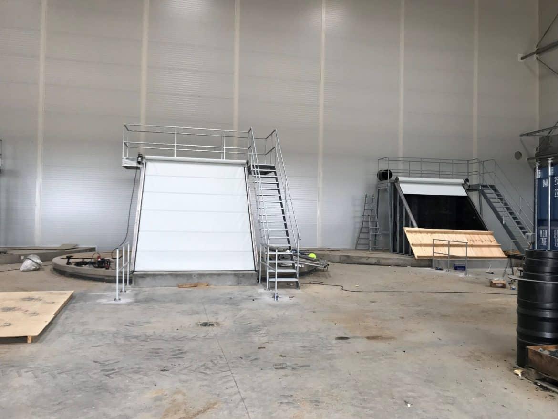Special port ved biogas anlæg-fremstilles i special biodug